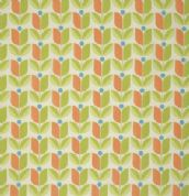 Free Spirit Flora by Joel Dewberry - 3846 - Chartreuse & Carrot Tulips - PWJD104 - Cotton Fabric